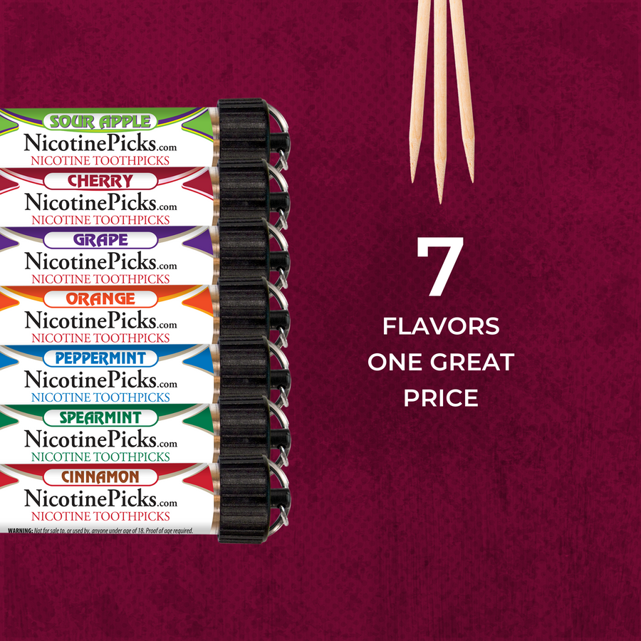 Nicotine Picks™ 7 Tube Flavor Pack - Nicotine Picks