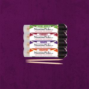 Nicotine Picks™ 4 Tube Nicotine Toothpick Fresh Mix