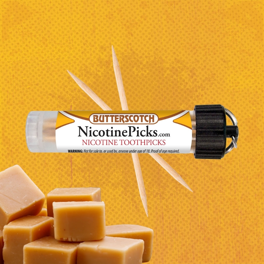 Nicotine Picks™ - Butterscotch Nicotine Toothpicks - 3mg