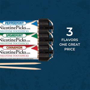 Nicotine Picks™ 3 Tube Starter Pack - Cinnamon/ Spearmint/ Peppermint - Nicotine Picks