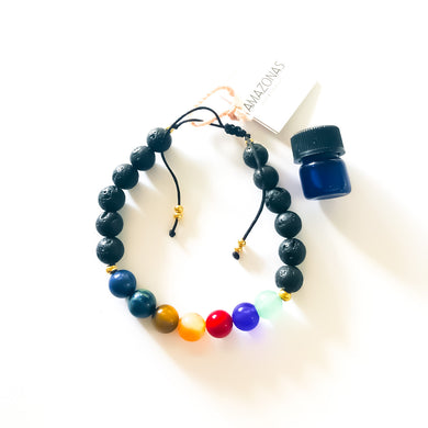 7th Chakra Aroma Diffuser Bracelet - With Mini Essential Oil Vial