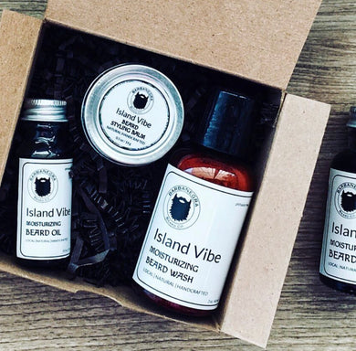 Island Vibe Travel Size Beard Care Kit - Exclusive Scent for Azahar