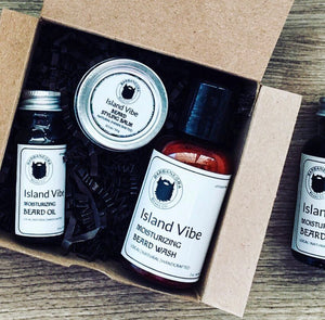 Island Vibe Travel Size Beard Care Kit - Exclusive Scent for Local Skin Love
