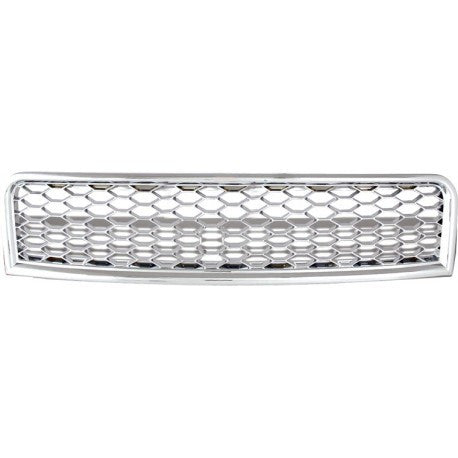 Audi A4 2002-05 | ABS Replacement Main Grille RS-Type | Chrome Frame | Chrome Honeycomb Mesh