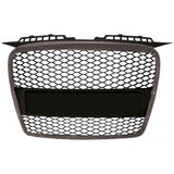 Audi A3 2006-2008 | ABS Replacement Grille RS-Type | Silver Frame | Matte Black Honeycomb Mesh