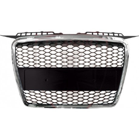 Audi A3 2006-2008 | ABS Replacement Grille RS-Type | Chrome Frame | Matte Black Honeycomb Mesh
