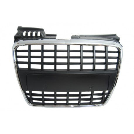 Audi A4 2006-08 | ABS Replacement Grille | Factory Style | Matte Black Frame | Matte Black Finish