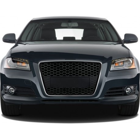 Audi A3 2009-2012 | ABS Replacement Grille RS-Type | Matte Black Frame | Matte Black Honeycomb Mesh