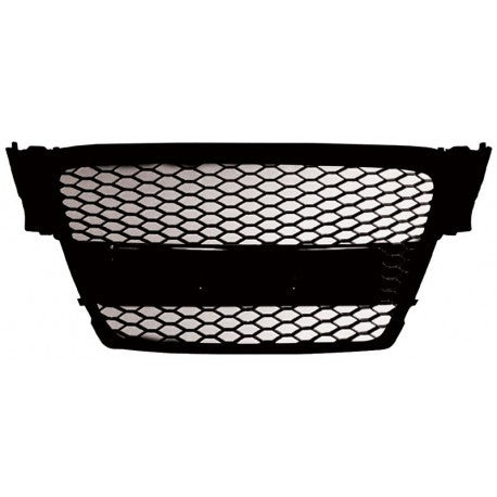 Audi A4 09-13 ABS Replacement Main Grille RS-Type Matte Black Frame Matte Black Honeycomb Mesh-RI