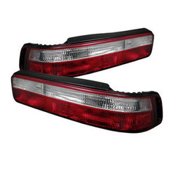 Acura Integra 90-93 2Dr Spyder Euro Style Tail Lights - Red Clear - Euro Style Tail Lights - Spyder - Carture Automotive