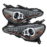 Subaru BRZ 12-14 Spyder Projector Headlights - CCFL Halo - DRL - LED -  Smoke