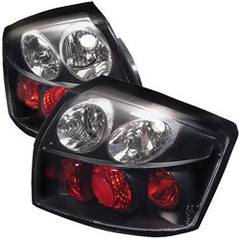 Audi A4 02-05 Spyder Euro Style Tail Lights - Black - Euro Style Tail Lights - Spyder - Carture Automotive