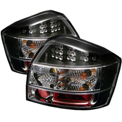 Audi A4 02-05 Spyder LED Tail Lights - Black - LED Tail Lights - Spyder - Carture Automotive