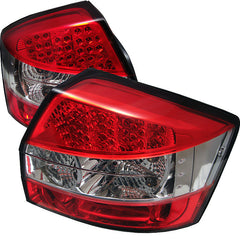 Audi A4 02-05 Spyder LED Tail Lights - Red Clear - LED Tail Lights - Spyder - Carture Automotive