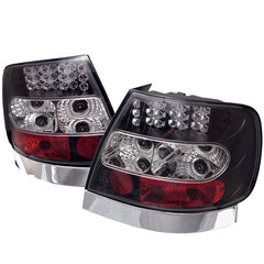 Audi A4 96-01 Spyder LED Tail Lights - Black - LED Tail Lights - Spyder - Carture Automotive