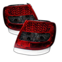 Audi A4 96-01 Spyder LED Tail Lights - Red Smoke - LED Tail Lights - Spyder - Carture Automotive