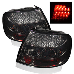 Audi A4 96-01 Spyder LED Tail Lights - Smoke - LED Tail Lights - Spyder - Carture Automotive