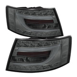 Audi A6 2005-2008 4Dr Sedan | Light Bar Spyder LED Tail Lights | Smoke