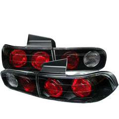 Acura Integra 94-01 4Dr Spyder Euro Style Tail Lights - Black - Euro Style Tail Lights - Spyder - Carture Automotive