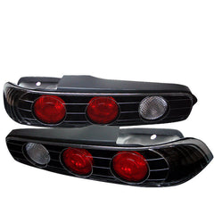 Acura Integra 94-01 2Dr Spyder Euro Style Tail Lights - Black - Euro Style Tail Lights - Spyder - Carture Automotive