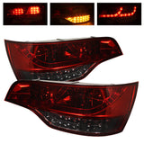 Audi Q7 2007-2009 | Spyder LED Tail Lights | Red Smoke