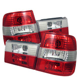BMW E34 5 Series 1988-1995 | Spyder Euro Style Tail Lights | Red Clear