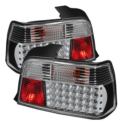 BMW E36 3 Series 1992-1998 4Dr | Spyder LED Tail Lights | Black