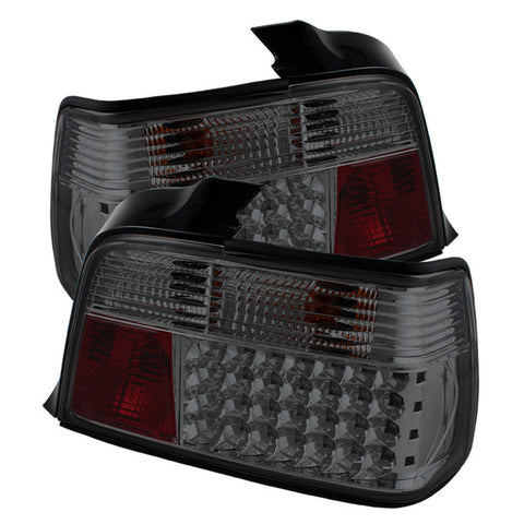 BMW E36 3 Series 1992-1998 4Dr | Spyder LED Tail Lights | Smoke