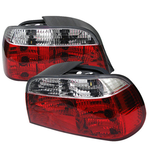 BMW E38 7 Series 1995-2001 | Spyder Crystal Tail Lights | Red Clear