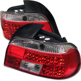 BMW E39 5 Series 1997-2000 | Spyder LED Tail Lights | Red Clear