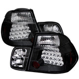 BMW E46 3-Series 99-01 4Dr Spyder LED Tail Lights - Black