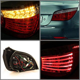 BMW E60 5-Series 04-07 Spyder LED Tail Lights - Red Smoke