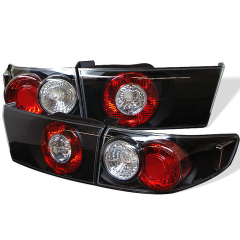 Honda Accord 03-05 4Dr Spyder Euro Style Tail Lights - Black