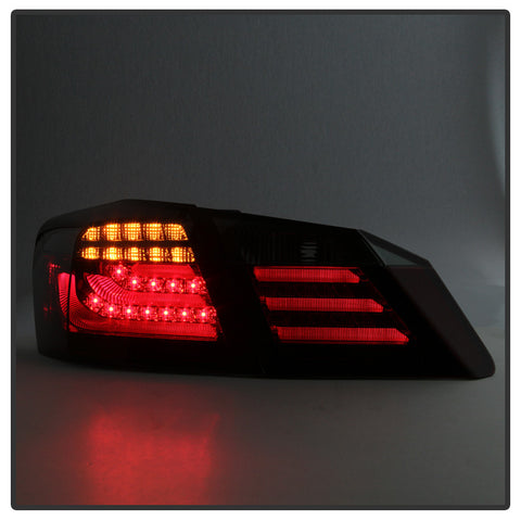 Honda Accord 2013-2015 4DR Spyder LED Tail Lights - Red Smoke