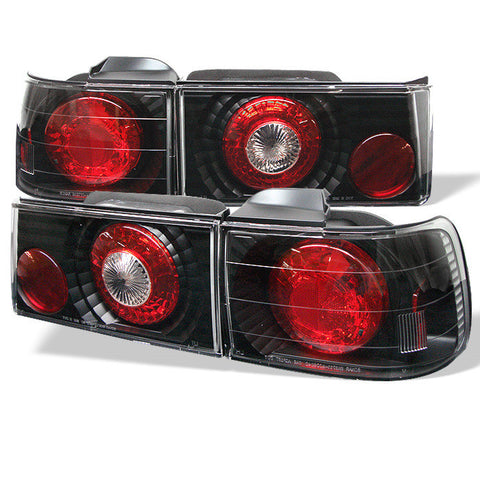 Honda Accord 90-91 4Dr Spyder Euro Style Tail Lights - Black