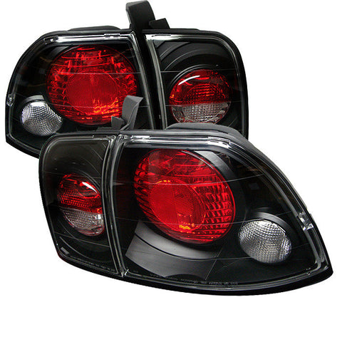 Honda Accord 96-97 Spyder Euro Style Tail Lights - Black