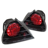 Honda Accord 98-00 2Dr Spyder Euro Style Tail Lights - Black