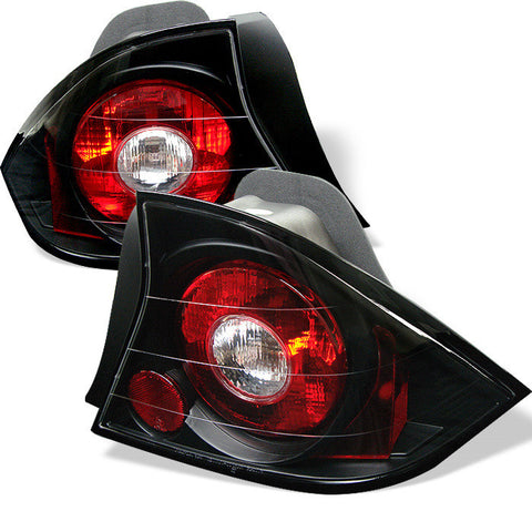 Honda Civic 01-03 2Dr Spyder Euro Style Tail Lights - Black