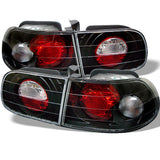 Honda Civic 92-95 3DR Spyder Euro Style Tail Lights - Black