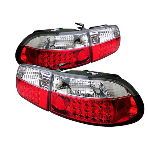 Honda Civic 92-95 3DR | Spyder LED Tail Lights | Red Clear