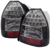 Honda Civic 96-00 3DR Spyder LED Tail Lights - Black