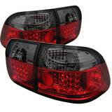 Honda Civic 96-98 4Dr Spyder LED Tail Lights - Red Smoke