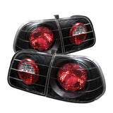 Honda Civic 99-00 4Dr Spyder Euro Style Tail Lights - Black