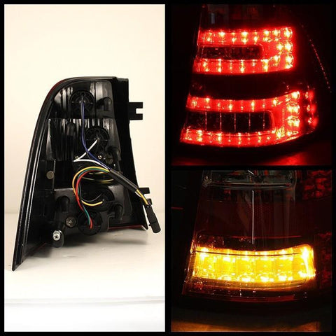 Mercedes Benz W163 M-Class ML 98-05 Spyder LED Tail Lights - Red Smoke