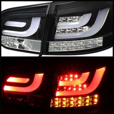 Volkswagen Golf / GTI 10-13 G2 Type With Light Bar Spyder LED Tail Lights - Black