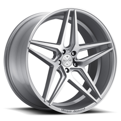 20x9 BD-8 Alloy Wheels / Rims | Silver w/ Machine Face | Blaque Diamond