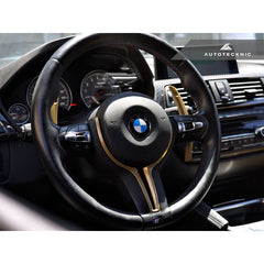 BMW F Chassis M2 / M3 / M4 / M5 / M6 | Champion Gold Steering Wheel Trim | AutoTecknic