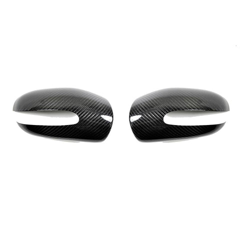 AutoTecknic Mercedes-Benz W211 - Dry Carbon Fiber Mirror Covers - Not Full Replacement