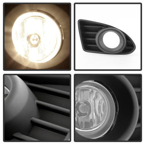 Scion IQ 2012-2013 OEM Spyder Fog Light w/Switch- Clear