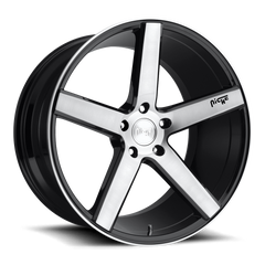 Niche Milan Sport Series 19x8.5 Alloy Wheel / Rims | Gloss Black w/ Brushed Face